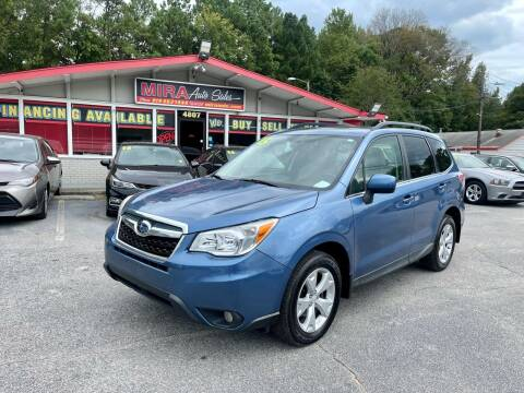 2015 Subaru Forester for sale at Mira Auto Sales in Raleigh NC