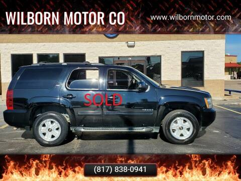 2010 Chevrolet Tahoe for sale at Wilborn Motor Co in Fort Worth TX