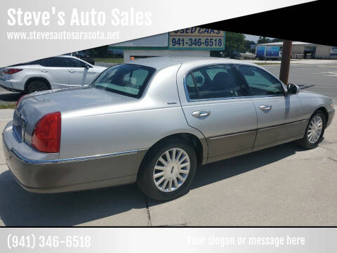 2004 Lincoln Town Car for sale at Steve's Auto Sales in Sarasota FL