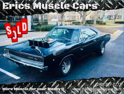 1968 Dodge Charger for sale at Erics Muscle Cars in Clarksburg MD