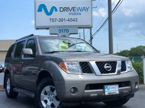 2006 Nissan Pathfinder for sale at Driveway Motors in Virginia Beach VA