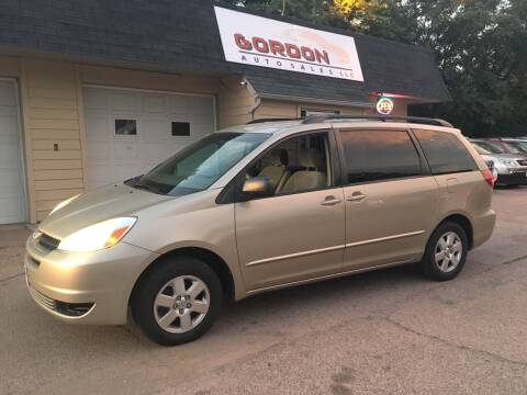 2004 Toyota Sienna for sale at Gordon Auto Sales LLC in Sioux City IA