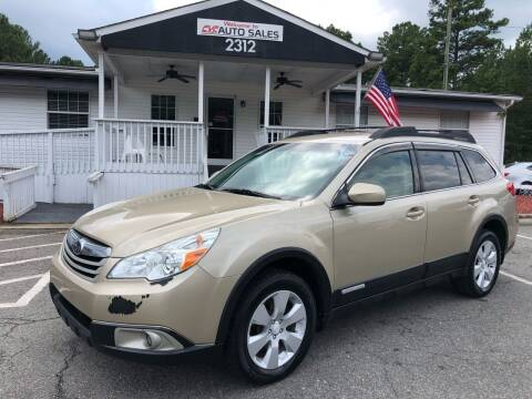 2010 Subaru Outback for sale at CVC AUTO SALES in Durham NC