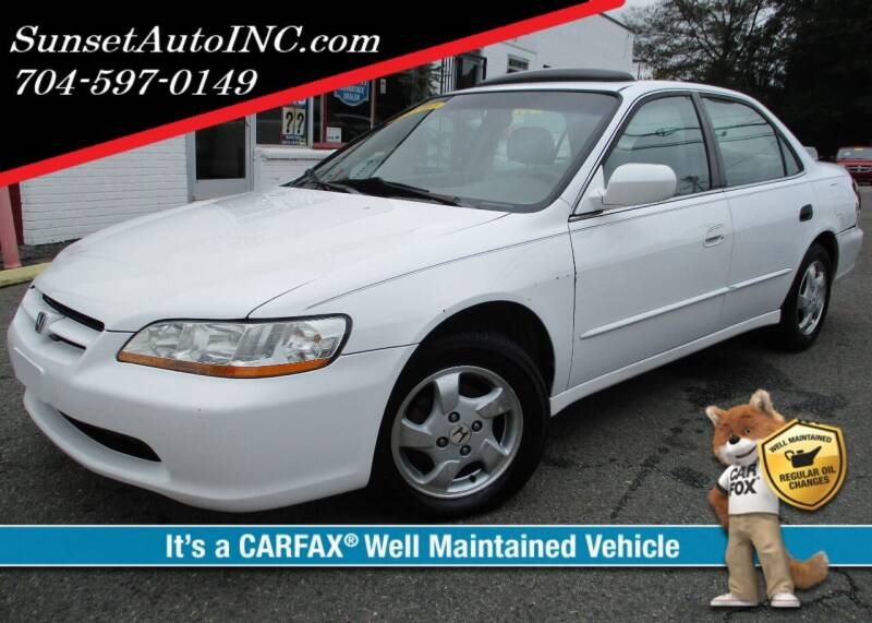 1999 Honda Accord for sale at Sunset Auto in Charlotte NC