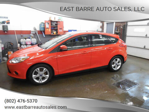 2013 Ford Focus for sale at East Barre Auto Sales, LLC in East Barre VT