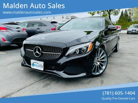 2015 Mercedes-Benz C-Class for sale at Malden Auto Sales in Malden MA