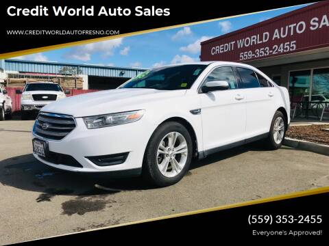 2013 Ford Taurus for sale at Credit World Auto Sales in Fresno CA