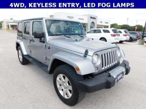 2018 Jeep Wrangler JK Unlimited for sale at Stanley Chrysler Dodge Jeep Ram Gatesville in Gatesville TX