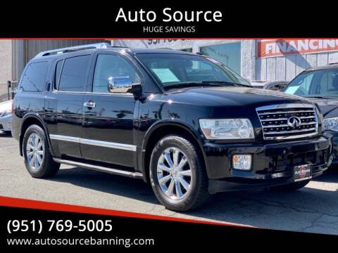 2008 Infiniti QX56 for sale at Auto Source in Banning CA