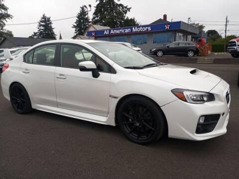 2017 Subaru WRX for sale at All American Motors in Tacoma WA