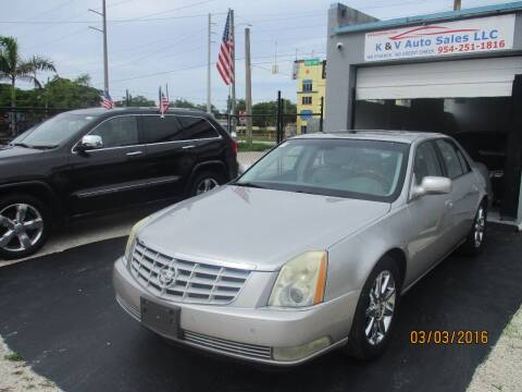 2006 Cadillac DTS for sale at K & V AUTO SALES LLC in Hollywood FL