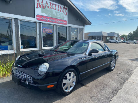 2002 Ford Thunderbird for sale at Martins Auto Sales in Shelbyville KY