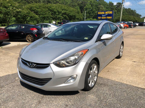2012 Hyundai Elantra for sale at Oceana Motors in Virginia Beach VA