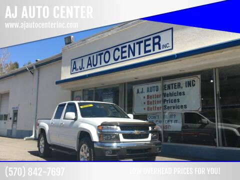2012 Chevrolet Colorado for sale at AJ AUTO CENTER in Covington Township PA