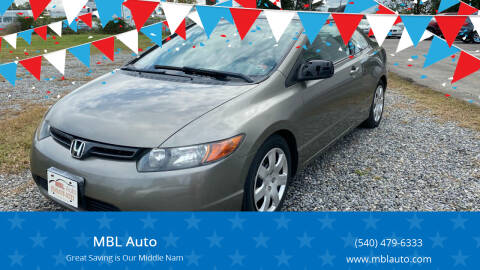 2006 Honda Civic for sale at MBL Auto Woodford in Woodford VA