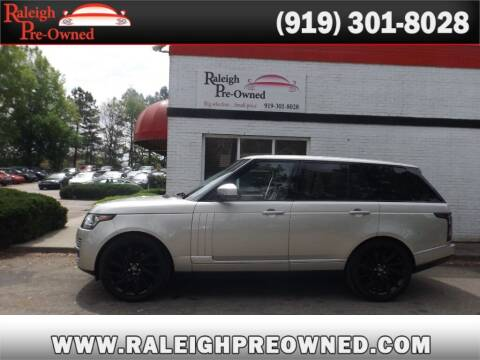 2014 Land Rover Range Rover for sale at Raleigh Pre-Owned in Raleigh NC