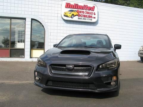 2015 Subaru WRX for sale at Unlimited Auto Sales & Detailing, LLC in Windsor Locks CT