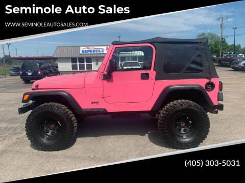 2003 Jeep Wrangler for sale at Seminole Auto Sales in Seminole OK
