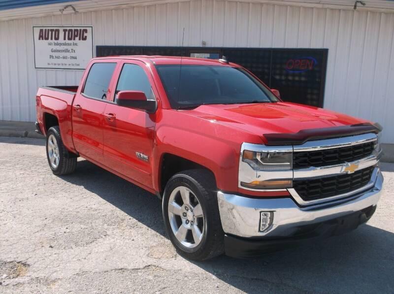 2016 Chevrolet Silverado 1500 for sale at AUTO TOPIC in Gainesville TX
