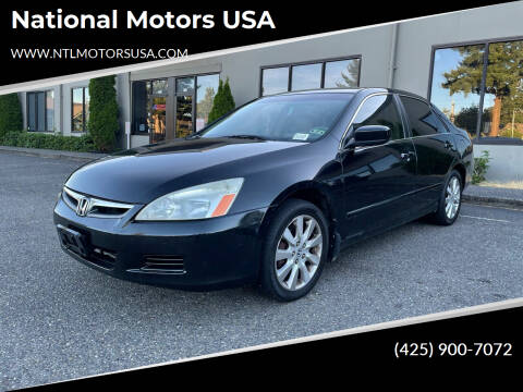2007 Honda Accord for sale at National Motors USA in Federal Way WA
