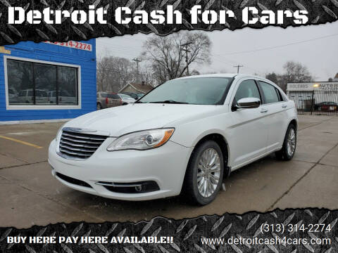 2011 Chrysler 200 for sale at Detroit Cash for Cars in Warren MI