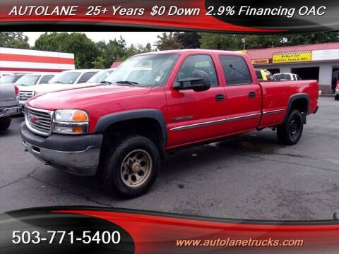 2001 GMC Sierra 2500HD for sale at Auto Lane in Portland OR