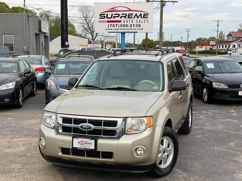 2011 Ford Escape for sale at Supreme Auto Sales in Chesapeake VA