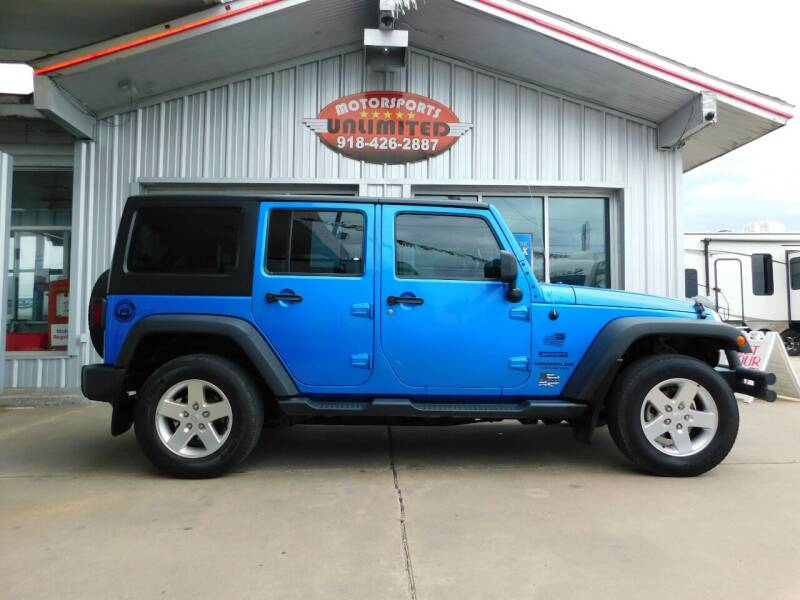 2015 Jeep Wrangler Unlimited for sale at Motorsports Unlimited in McAlester OK