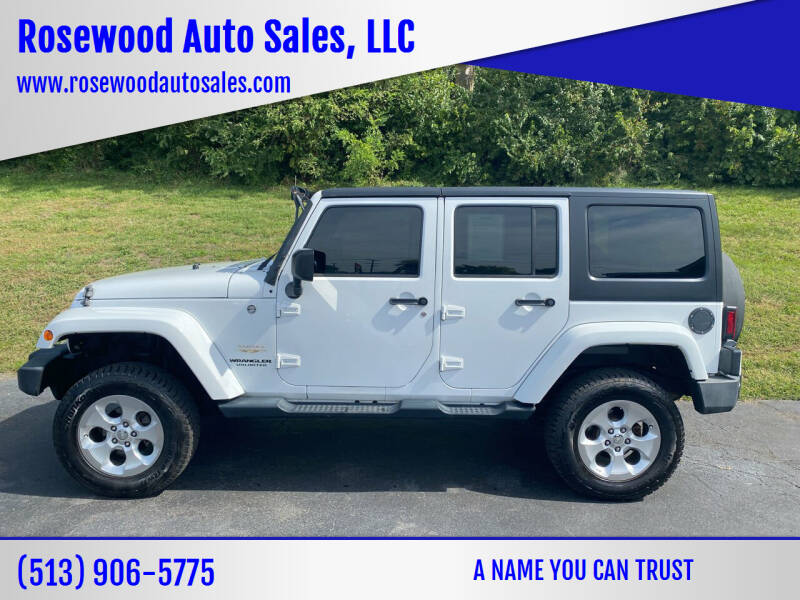 2014 Jeep Wrangler Unlimited for sale at Rosewood Auto Sales, LLC in Hamilton OH