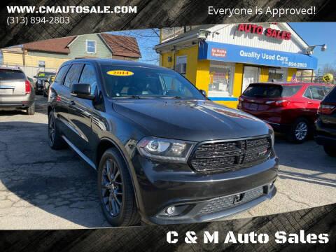 2014 Dodge Durango for sale at C & M Auto Sales in Detroit MI