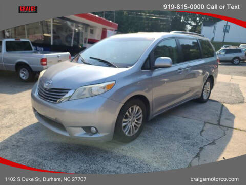 2011 Toyota Sienna for sale at CRAIGE MOTOR CO in Durham NC