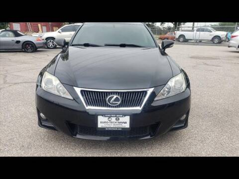 2012 Lexus IS 250 for sale at Euro-Tech Saab in Wichita KS