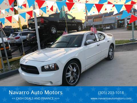 2008 Dodge Charger for sale at Navarro Auto Motors in Hialeah FL