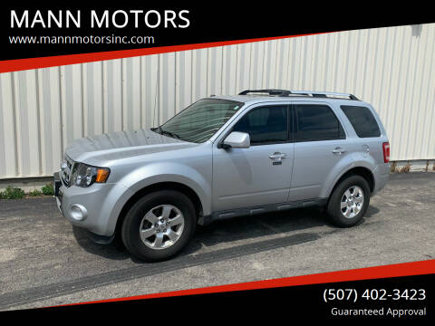 2011 Ford Escape for sale at MANN MOTORS in Albert Lea MN