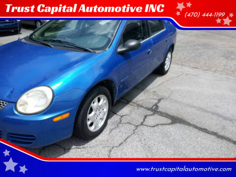 2005 Dodge Neon for sale at Trust Capital Automotive Inc. in Covington GA