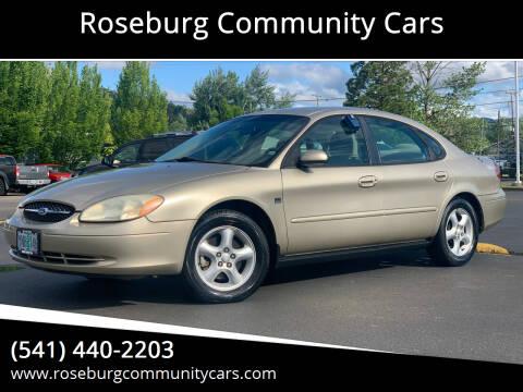 2001 Ford Taurus for sale at Roseburg Community Cars in Roseburg OR