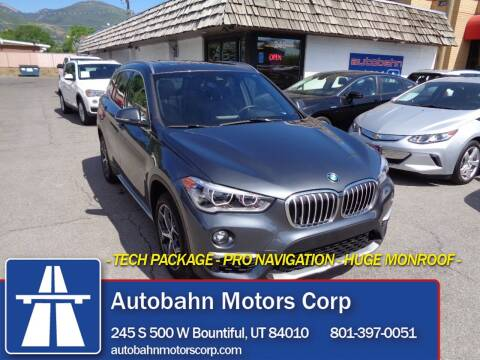 2018 BMW X1 for sale at Autobahn Motors Corp in Bountiful UT