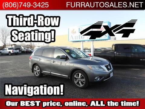 2015 Nissan Pathfinder for sale at FURR AUTO SALES in Lubbock TX