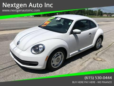 2015 Volkswagen Beetle for sale at Nextgen Auto Inc in Smithville TN