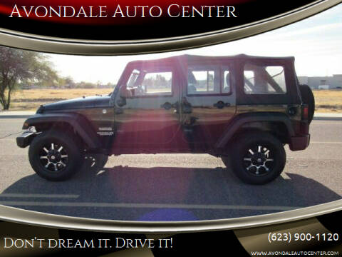 2012 Jeep Wrangler Unlimited for sale at Avondale Auto Center in Avondale AZ