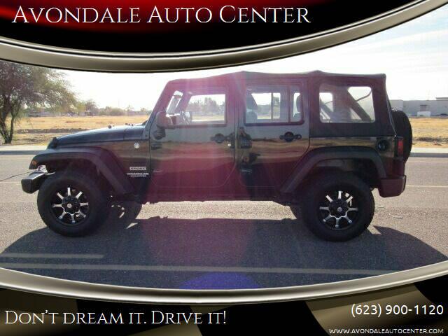 2012 Jeep Wrangler Unlimited for sale at Avondale Auto Center in Avondale AZ