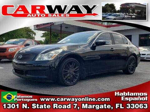 2009 Infiniti G37 Sedan for sale at CARWAY Auto Sales in Margate FL