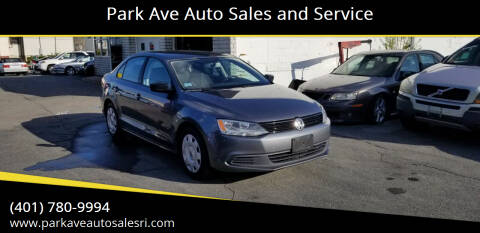 2012 Volkswagen Jetta for sale at Park Ave Auto Sales and Service in Cranston RI