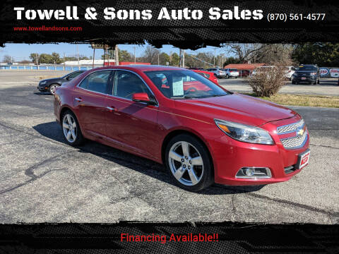 2013 Chevrolet Malibu for sale at Towell & Sons Auto Sales in Manila AR