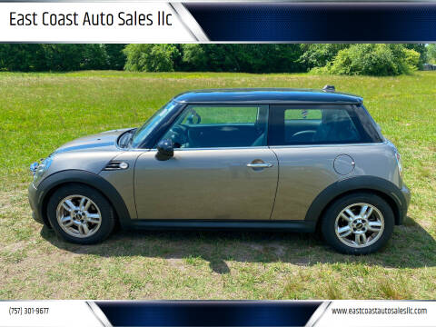 2012 MINI Cooper Hardtop for sale at East Coast Auto Sales llc in Virginia Beach VA