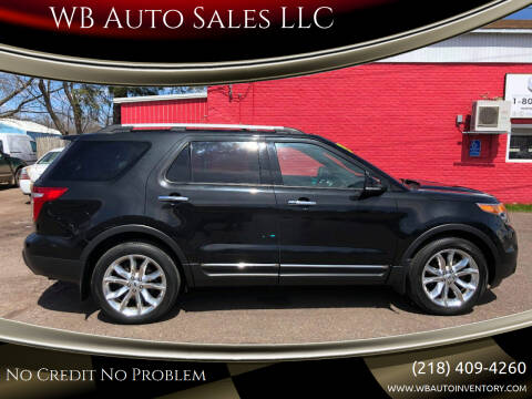 2013 Ford Explorer for sale at WB Auto Sales LLC in Barnum MN