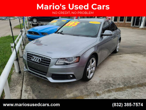 2009 Audi A4 for sale at Mario's Used Cars - South Houston Location in South Houston TX