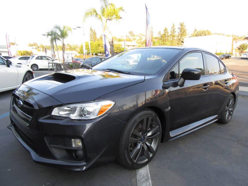 2017 Subaru WRX for sale at Eagle Auto in La Mesa CA