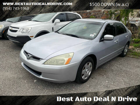 2005 Honda Accord for sale at Best Auto Deal N Drive in Hollywood FL