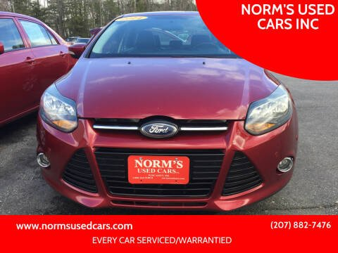 2014 Ford Focus for sale at NORM'S USED CARS INC in Wiscasset ME